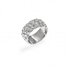 Ανάγλυφο ασημένιο δαχτυλίδι
