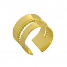 Δαχτυλίδι ασημένιο 9,25 επίχρυσο ανοιχτό