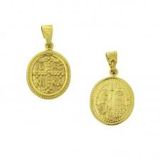 Κωνσταντινάτο χρυσό 9Κ με δυο όψεις
