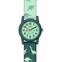Παιδικό ρολόι με πράσινο λουράκι