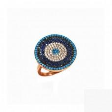 Ασημένιο δαχτυλίδι στόχος με ζιργκόν