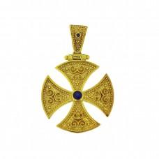 Ασημένιος επίχρυσος βυζαντινός σταυρός