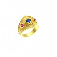 Βυζαντινό ασημένιο δαχτυλίδι επίχρυσο