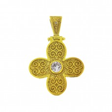 Βυζαντινός ασημένιος σταυρός με ζιργκόν