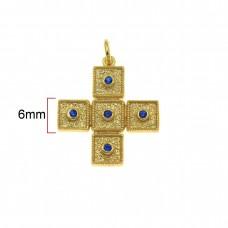 Μενταγιόν βυζαντινός  σταυρός ασημένιος επίχρυσος