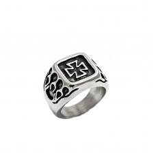 Ανδρικό ατσάλινο δαχτυλίδι σταυρός
