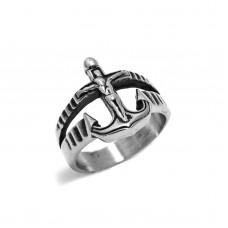 Ανδρικό δαχτυλίδι ατσάλι άγκυρα οξυντέ