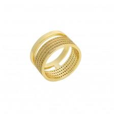 Ασημένιο επίχρυσο δαχτυλίδι με ζιργκόν