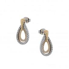 Ασημένια σκουλαρίκια σε σχήμα δάκρυ