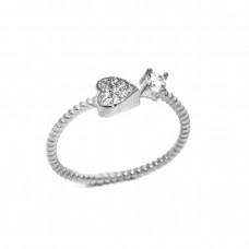 Δαχτυλίδι ασημένιο παιδικό σε σχήμα καρδιά