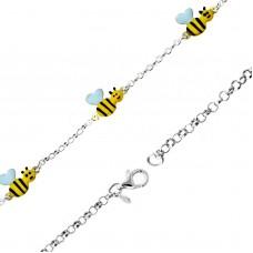 Παιδικό ασημένιο βραχιόλι μελισσούλες