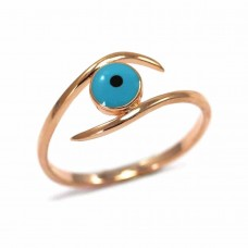 Παιδικό ασημένιο δαχτυλίδι σε σχήμα μάτι