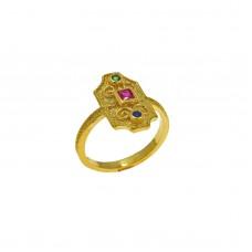 Βυζαντινό δαχτυλίδι ασημένιο οκτάγωνο