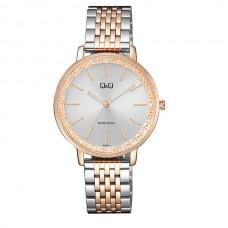 Γυναικείο ρολόι με μπρασελέ ασημί ροζ χρυσό