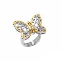 Δαχτυλίδι ατσάλινο πεταλούδα ΑΤΣΑΛΙ ΚΟΣΜΗΜΑΤΑ