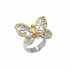 Δαχτυλίδι ατσάλινο πεταλούδα