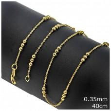 Ασημένια αλυσίδα χρυσή 40cm