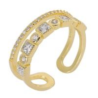 Δαχτυλίδι διπλό ανοιχτό χρυσό