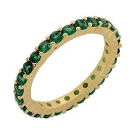 Δαχτυλίδι με πράσινα ζιργκόν ΚΟΣΜΗΜΑΤΑ