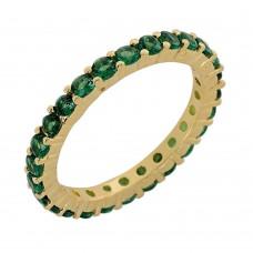 Δαχτυλίδι με πράσινα ζιργκόν