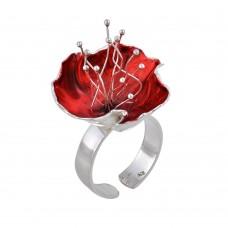 Δαχτυλίδι ασημένιο κόκκινο ΚΟΣΜΗΜΑΤΑ
