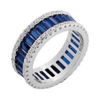 Δαχτυλίδι βέρα με μπλέ ζιργκόν ΚΟΣΜΗΜΑΤΑ
