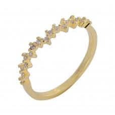 Δαχτυλίδι ασημένιο χρυσό ΚΟΣΜΗΜΑΤΑ