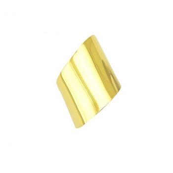 Ασημένιο δαχτυλίδι επίχρυσο σεβαλιέ