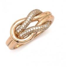 Ασημένιο δαχτυλίδι κόμπος με ζιργκόν