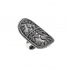 Ασημένιο δαχτυλίδι οβάλ οξυντέ
