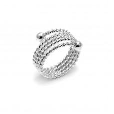 Ασημένιο δαχτυλίδι βέρα στριφτή
