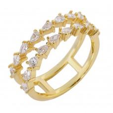 Δαχτυλίδι διπλό χρυσό