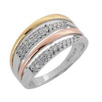 Δαχτυλίδι ασημένιο πολύσειρο ΚΟΣΜΗΜΑΤΑBIJOUX-JEWELRY