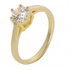 Ασημένιο μονόπετρο δαχτυλίδι ΚΟΣΜΗΜΑΤΑ