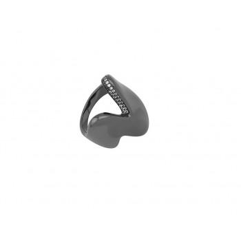 Δαχτυλίδι ασημένιο σε μαύρη επιροδίωση
