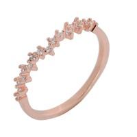 Δαχτυλίδι ασημένιο ροζ χρυσό