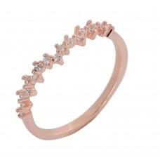 Δαχτυλίδι ασημένιο ροζ χρυσό ΚΟΣΜΗΜΑΤΑ