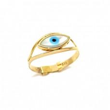 Χρυσό δαχτυλίδι με μάτι