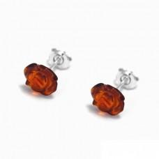 Ασημένια σκουλαρίκια τριαντάφυλλο