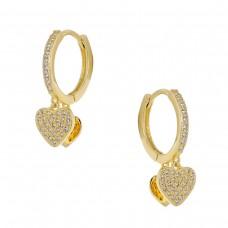Κρίκοι σκουλαρίκια με καρδιά ΚΟΣΜΗΜΑΤΑ