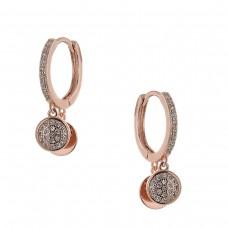 Κρίκοι σκουλαρίκια με ζιργκόν ΚΟΣΜΗΜΑΤΑ