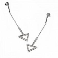Σκουλαρίκια ασημένια τρίγωνο