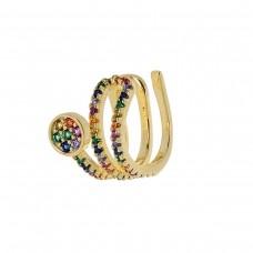 Μονό σκουλαρίκι χρυσό ΚΟΣΜΗΜΑΤΑ