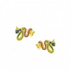 Ασημένια σκουλαρίκια φίδι