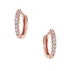 Κρίκοι σκουλαρίκια ρόζ χρυσό ΚΟΣΜΗΜΑΤΑ