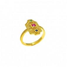 Δαχτυλίδι οκτάγωνο χρυσό