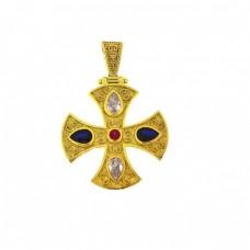 Σταυρός ασημένιος βυζαντινός