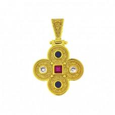 Σταυρός βυζαντινός ασημένιος