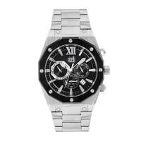 Ανδρικό ρολόι με μαύρο καντράν ΡΟΛΟΓΙΑ