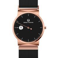 Ρολόι ανδρικό με μαύρο μπρασελέ ΡΟΛΟΓΙΑBIJOUX-JEWELRY